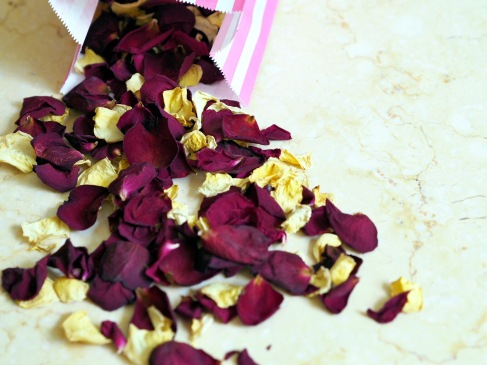 Rose petals (originally pink and cream)